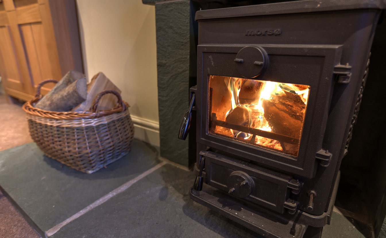 10 The Lakes - dog friendly holiday cottage - Log burner for a cosy night in EV charger. Elterwater holiday cottage